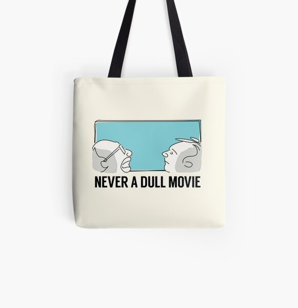 Never a Dull Movie All Over Print Tote Bag