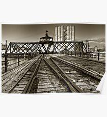 Milwaukee River Swing Bridge Poster