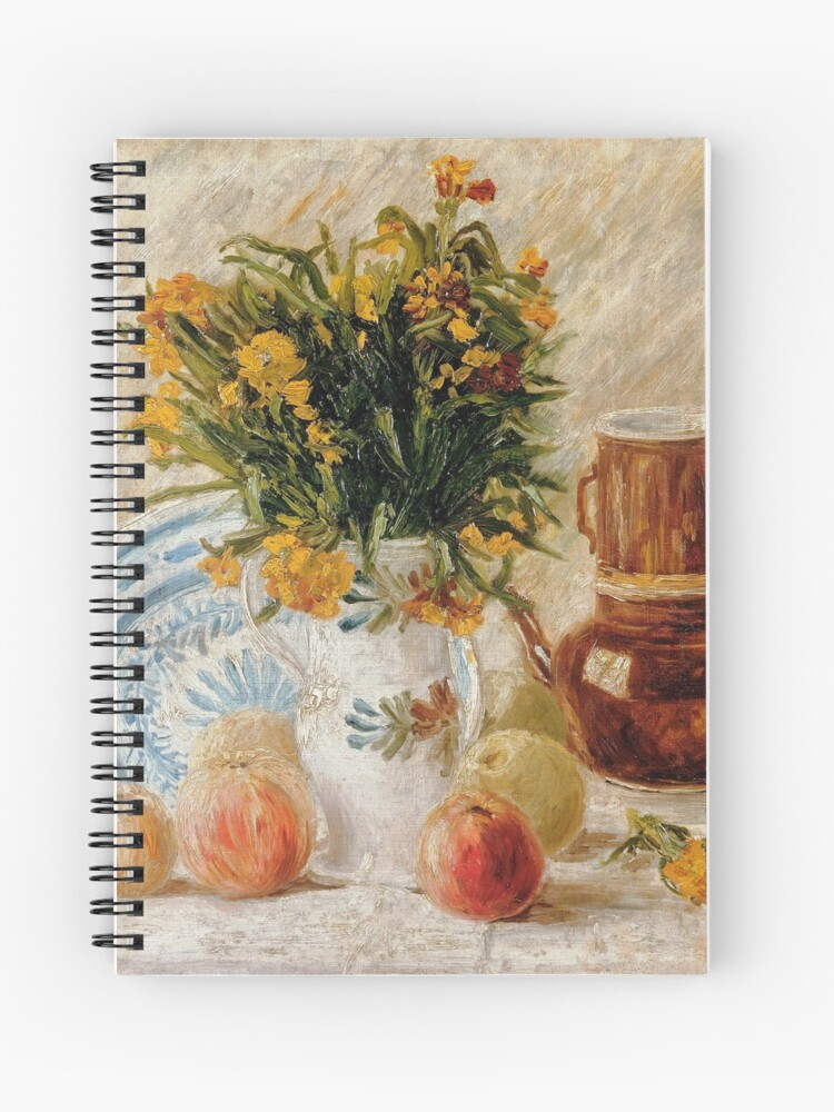 Vase with Flowers Coffeepot and Fruit by Vincent Van Gogh Laptop Shoulder Bag