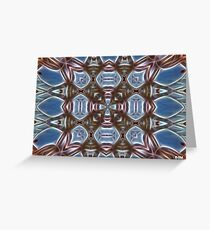 Blue and Brown Greeting Card