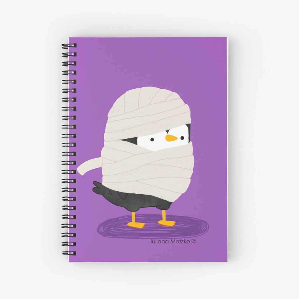 Mummy Penguin Spiral Notebook