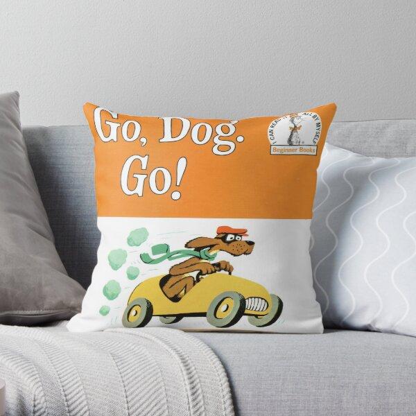 Go Dog Go! Throw Pillow