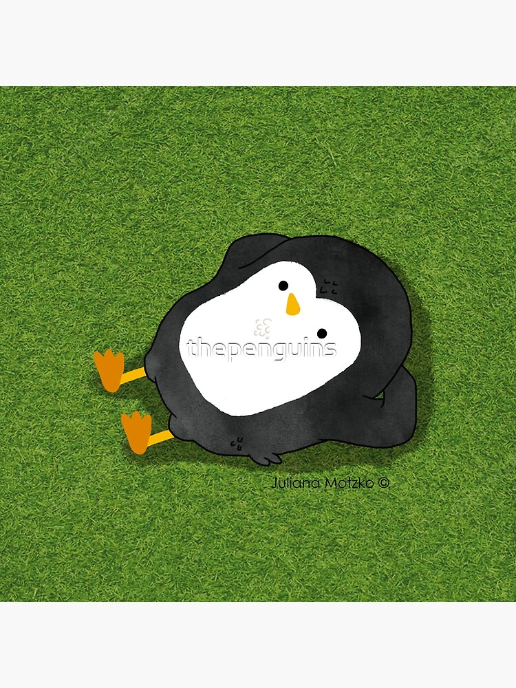 Penguin Laying on the grass by thepenguins