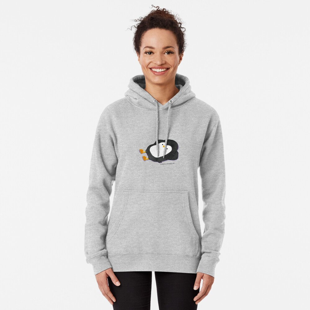 Penguin Laying Pullover Hoodie