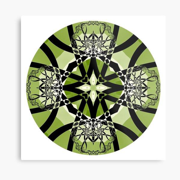Spring Serenade Mandala Metal Print