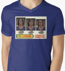 Hanson Brothers - Hockey Card!  V-Neck T-Shirt