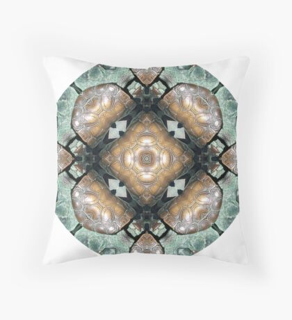 Frog Mandala Throw Pillow