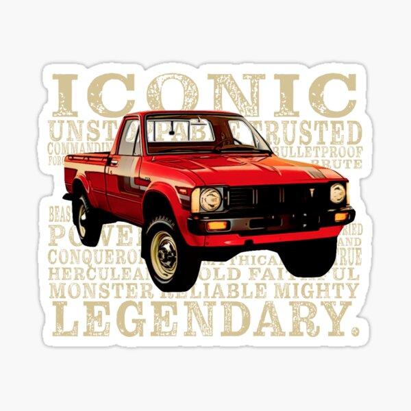 Vintage Toyota Pickup Truck words Sticker