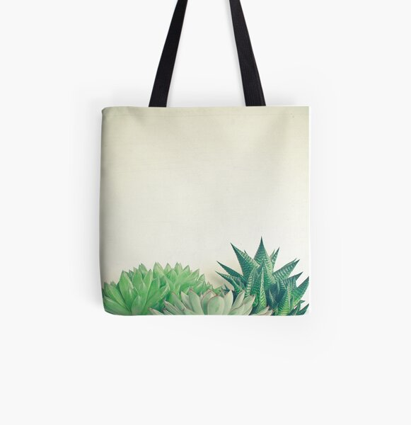 Succulent Forest All Over Print Tote Bag
