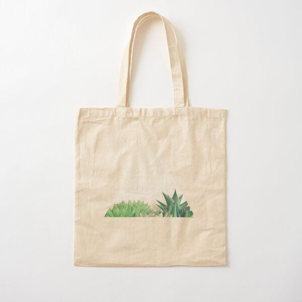 Succulent Forest Cotton Tote Bag