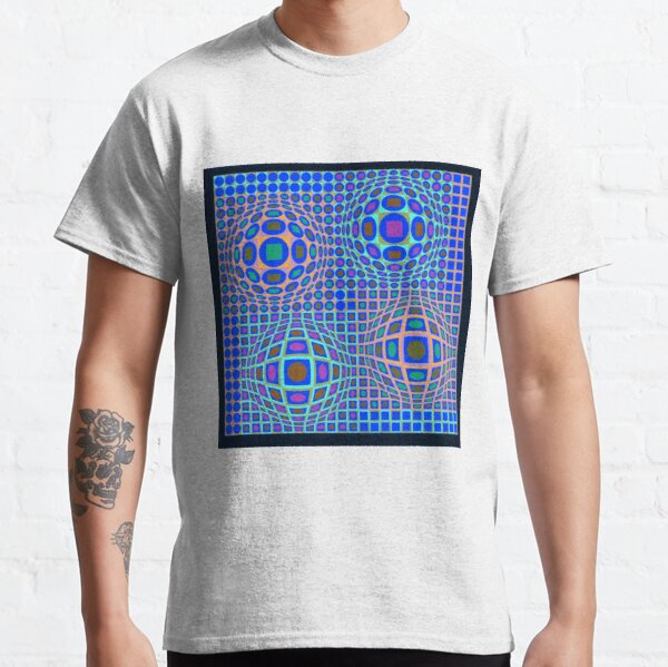 Op Art. Victor #Vasarely, was a Hungarian-French #artist, who is widely accepted as a #grandfather and leader of the #OpArt movement Classic T-Shirt
