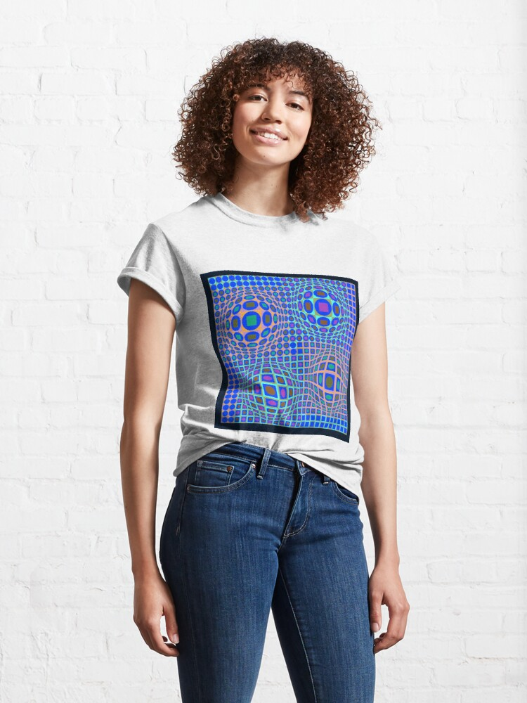 Alternate view of Op Art. Victor #Vasarely, was a Hungarian-French #artist, who is widely accepted as a #grandfather and leader of the #OpArt movement Classic T-Shirt