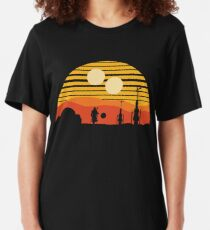 vintage sunset Slim Fit T-Shirt
