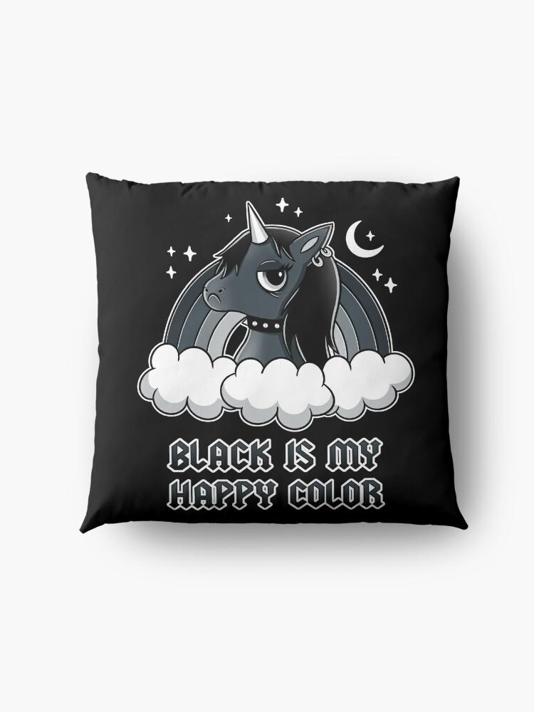 Alternate view of Black Unicorn Floor Pillow