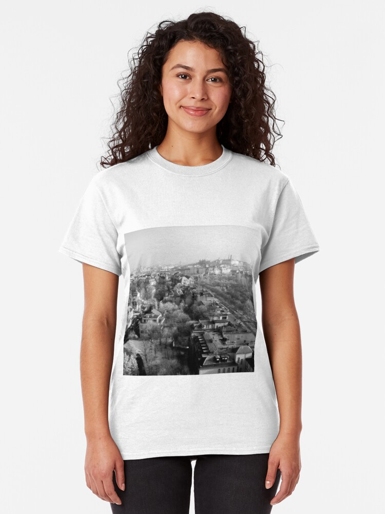 Alternate view of Wintery Budapest Skyline Classic T-Shirt