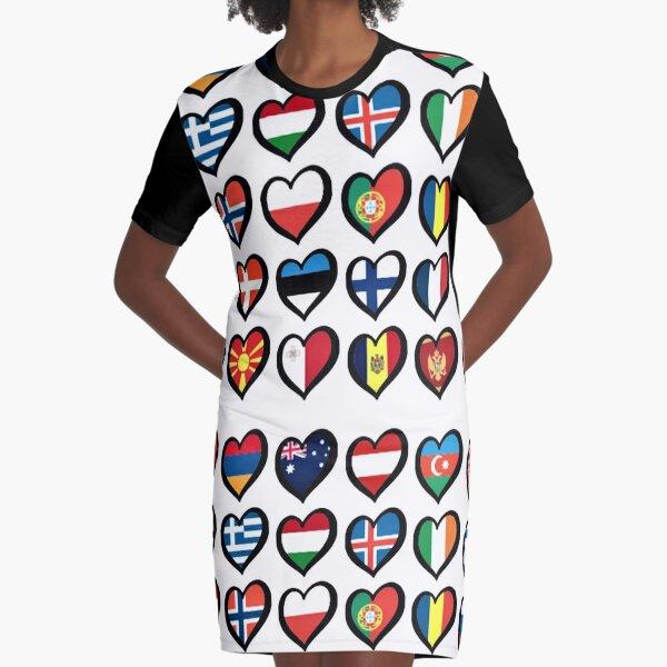 leo • theo | European flags Graphic T-Shirt Dress