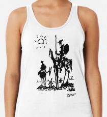 Pablo Picasso Don Quixote 1955 Artwork Shirt, Reproduction Racerback Tank Top