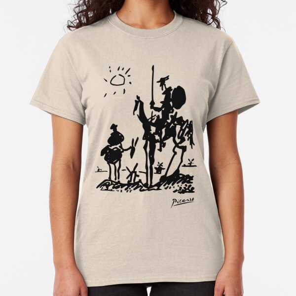 Pablo Picasso Don Quixote 1955 Artwork Shirt, Reproduction Classic T-Shirt