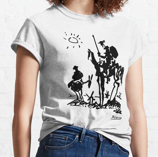Pablo Picasso Don Quixote 1955 Artwork Shirt, Reproduction Classic T-Shirt