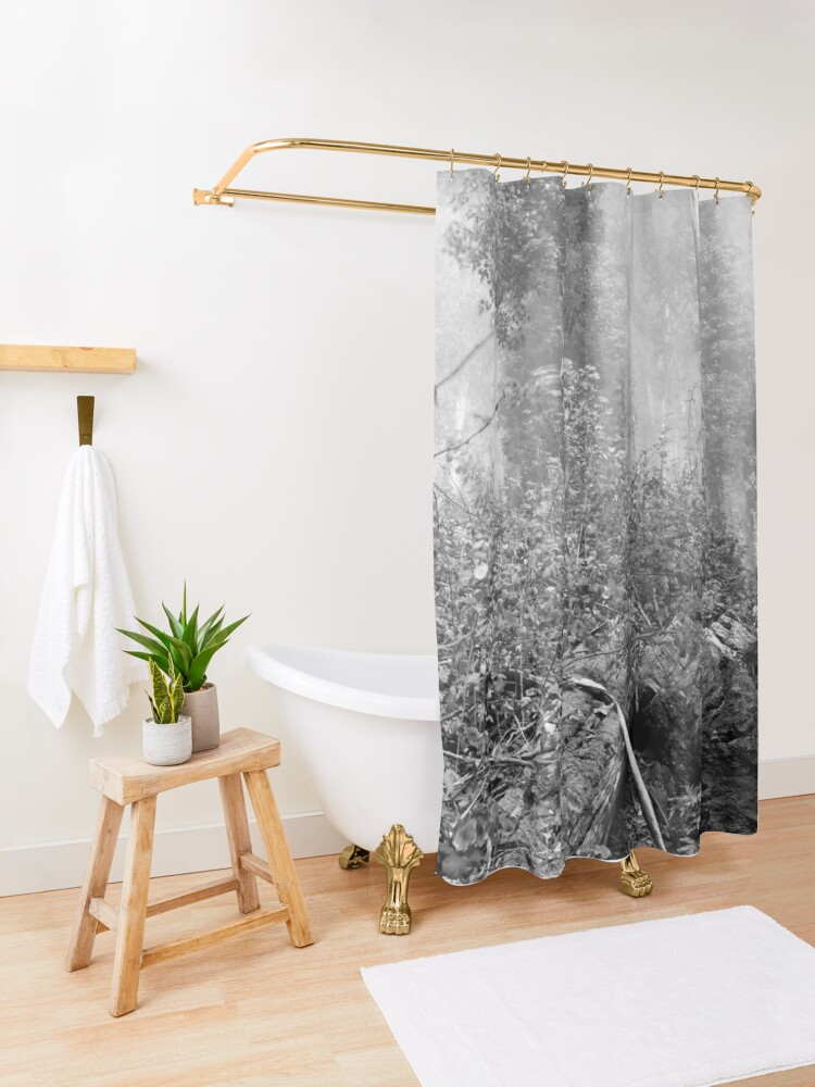 Alternate view of Eucalypti of Mount Sutro Shower Curtain