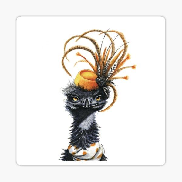 Emily the stylish Emu Sticker