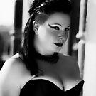 Lauren 3 b&w. goth portriat by lendale