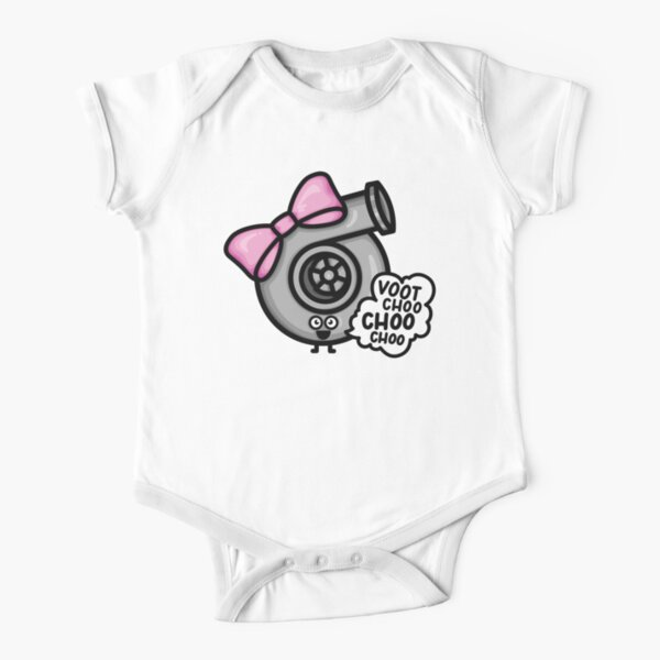 What Does The Cutest Turbo say - Pink Bow Short Sleeve Baby One-Piece