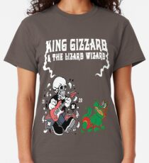 king gizzard and the lizard wizard skeleton funny rock gift Classic T-Shirt