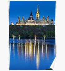Canadian Parliament - Dusk Poster