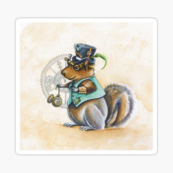 Steampunk squirrel  Sticker