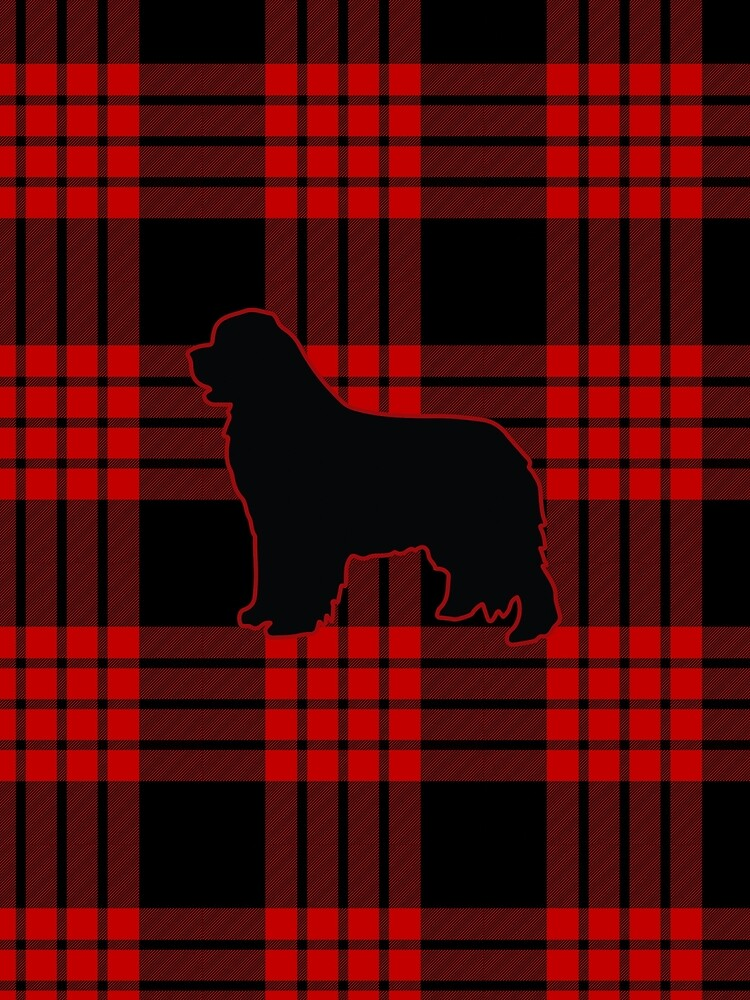 Red Plaid Newfie by itsmechris