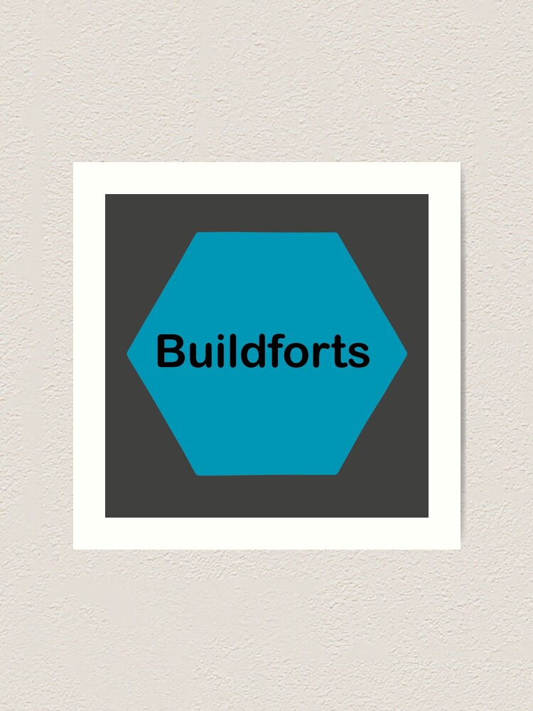 Alternate view of Buildforts  Art Print