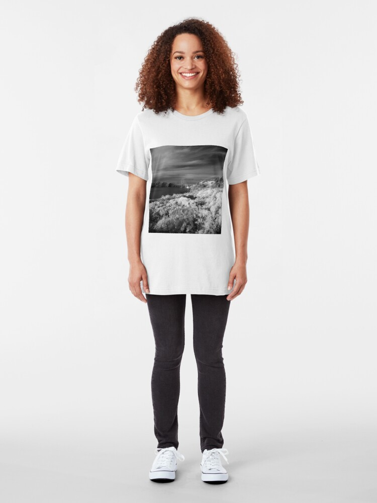 Alternate view of Battery Crosby, Presidio, San Francisco Slim Fit T-Shirt