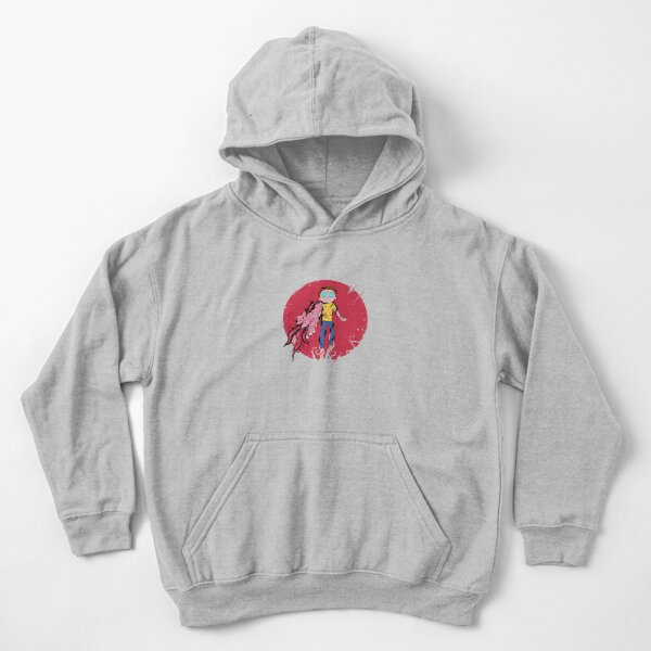 Anime Morty Kids Pullover Hoodie