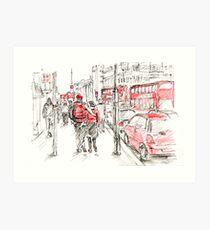 Red Objects in London - 2011 Art Print