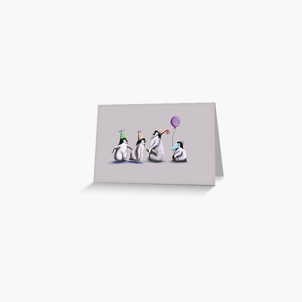 Penguin party Greeting Card