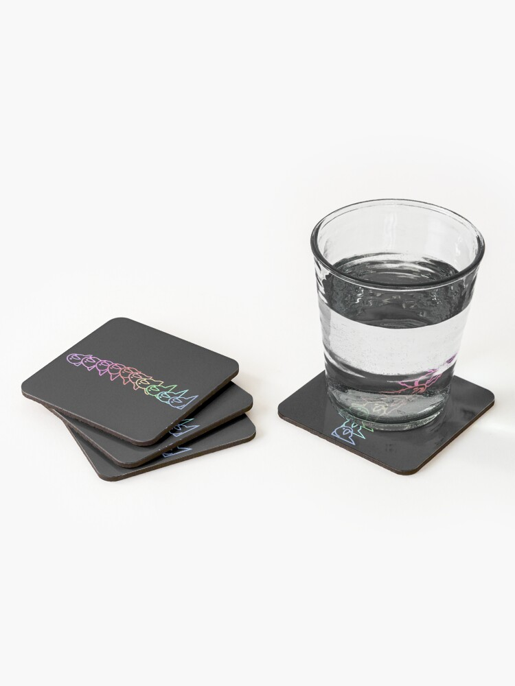 Alternate view of PartyParrot Outline Coasters (Set of 4)