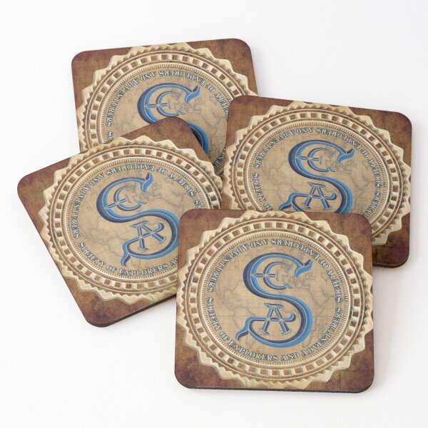 Society of Explorers and Adventurers Coasters Coasters (Set of 4)