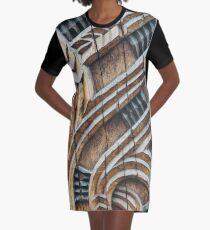A Maori Carving Graphic T-Shirt Dress
