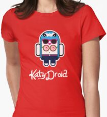 Katy Perry goes Google Android Style! Women's Fitted T-Shirt