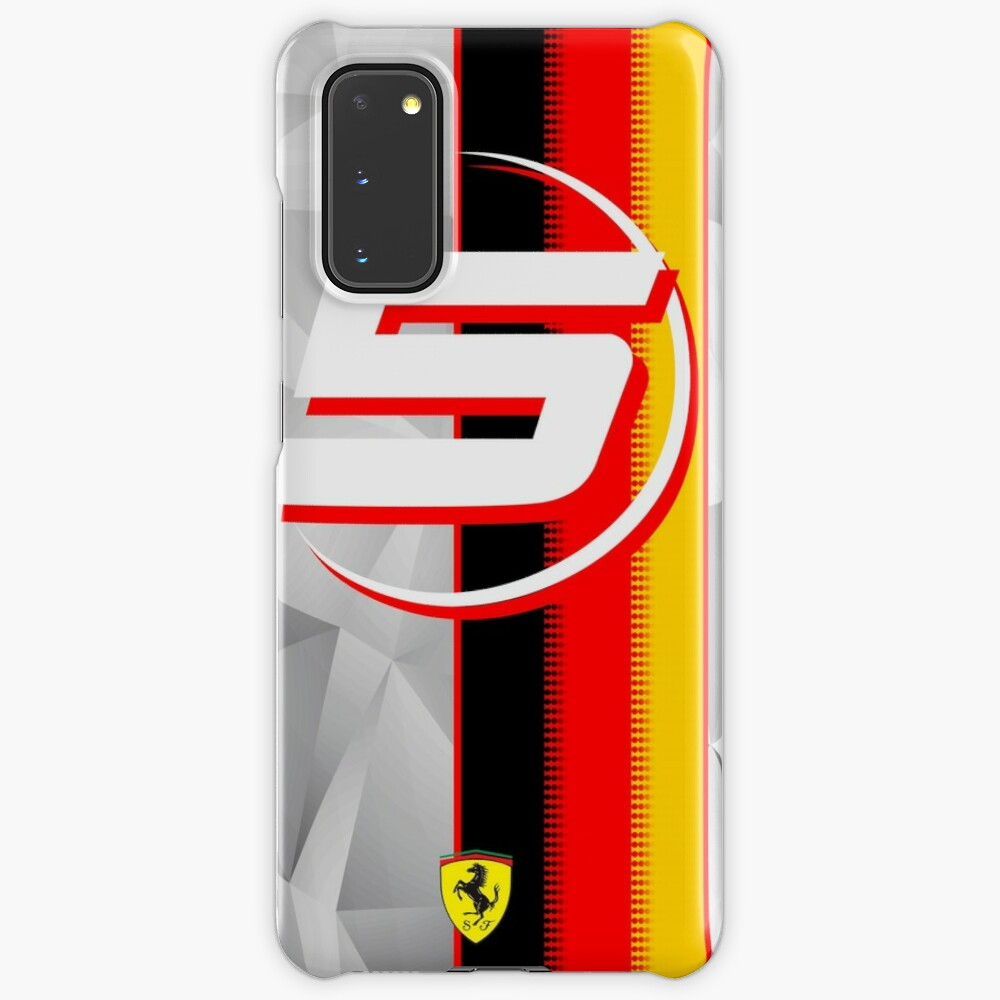 Sebastian Vettel F1 2019 Scuderia Ferrari Case And Vinyl Case Skin For Samsung Galaxy By Mrkaiser05 Redbubble