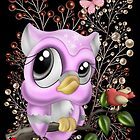 Lilac fantasy Owl by LoneAngel