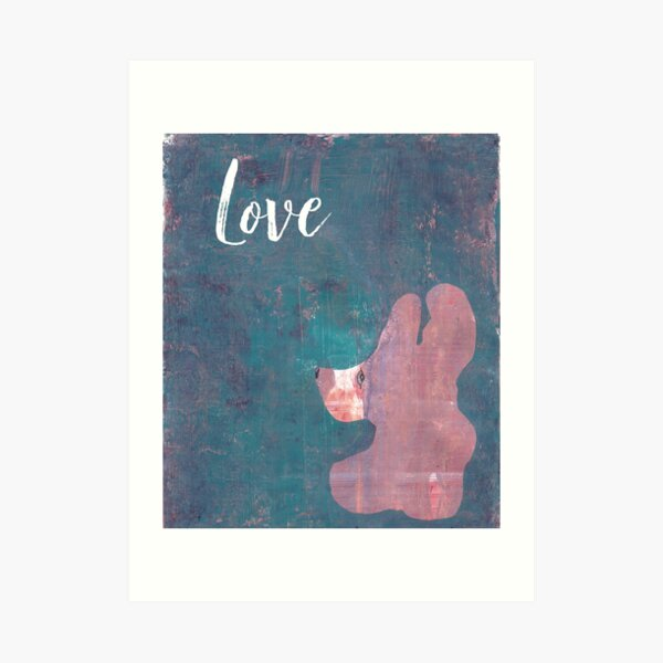 Love Inspirational Teddy Bear Art Print