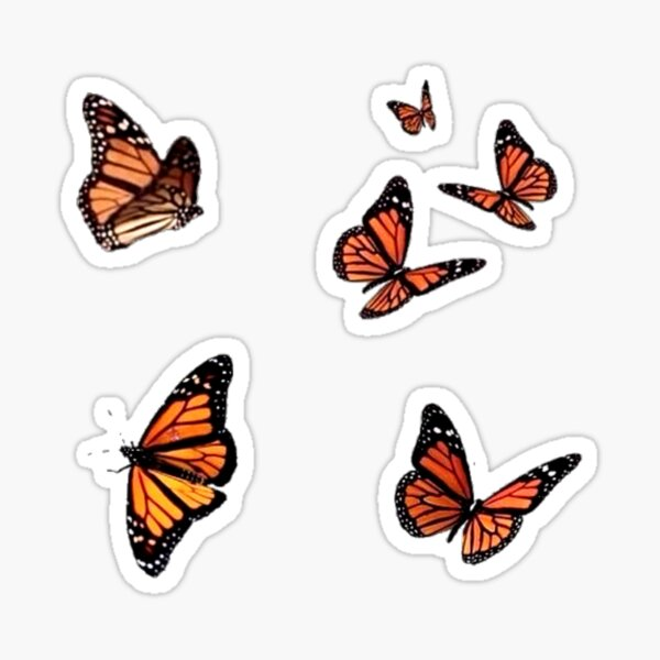 butterflies flying  Sticker