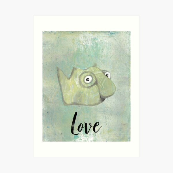 Love Inspirational Blob Monster Art Print