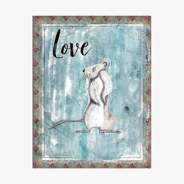 Love Inspirational Rat Photographic Print