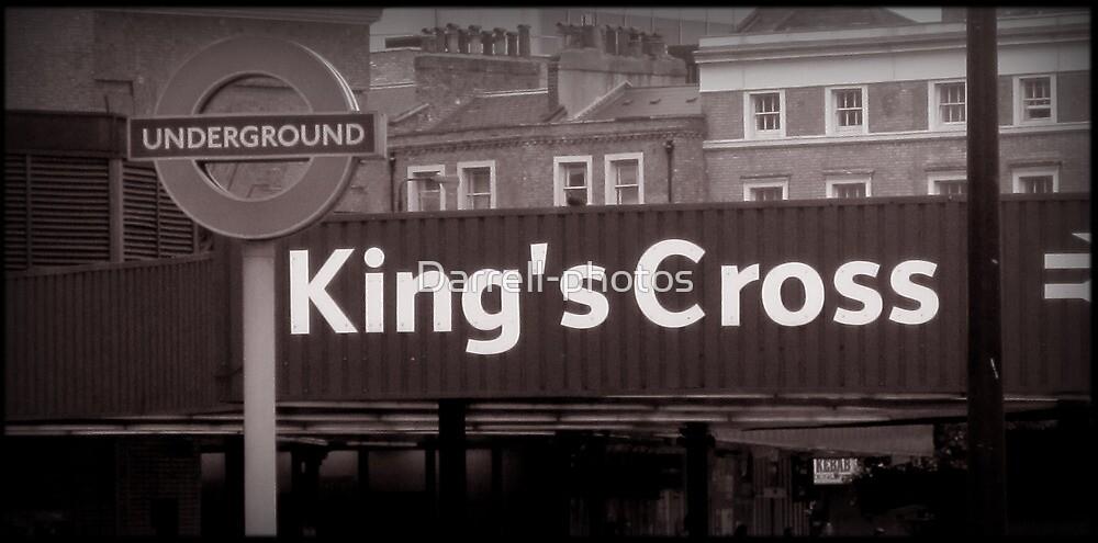 Kings Cross Underground-Tube- black-white by Darrell-photos