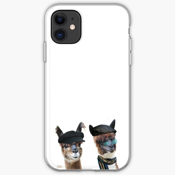 Best Friends Two Albacas Llamas iPhone Soft Case