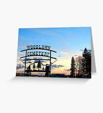 Woodlawn Sign Greeting Card