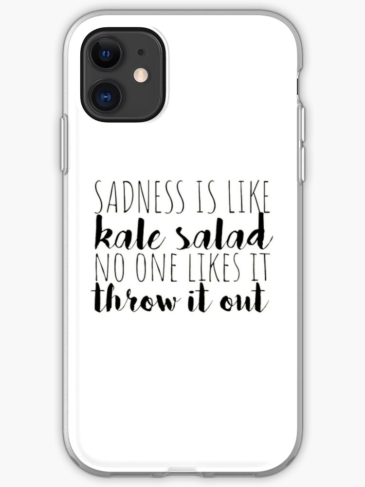 Beetlejuice The Musical Sadness Is Like Kale Salad Iphone Case Cover By Samgen6 Redbubble